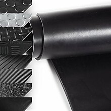 Gummil/äufer St/ärke: 3 mm Breitriefen 120x800 cm Meterware in vielen Gr/ö/ßen Gummimatten mit rutschhemmender Oberfl/ächenstruktur