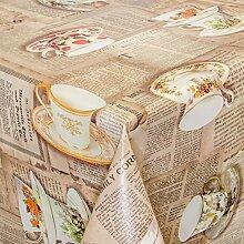 ANRO Wachstuch abwaschbare Tischdecke Küche 160 x