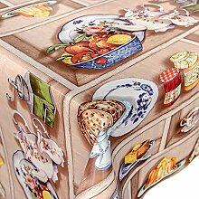 ANRO Wachstuch abwaschbare Tischdecke Küche 220 x