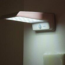 Anself 20 LED Solarleuchten Solar LED-Strahler mit Infrarot-Bewegungsmelder für Garten