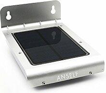 Anself 24 LEDs Solarlampe Außenleuchte Bewegungsmelder Lampe für Terrasse, Hof, Garten