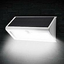 Anself 48 LED Solar Wandleuchte Bewegungssensor Solarlampe mit 4 Intelligenten Modi für Treppen, Wege, Garten, Wand, Terrasse usw.