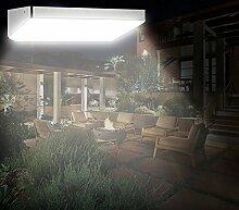 Anself 48 LED Solar Wandleuchte Solar Bewegungsmelderlampen mit 4 Intelligenten Modi für den Garten / Außenbereich