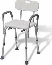Anself Aluminium Duschstuhl Badestuhl mit Arm- und