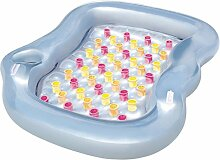 Anself Aufblasbare Schwimm-Lounge/Familien Schwimmbecken/ Schwimmbad aufblasbar 216 x 178 cm