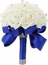 Anself Brautstrauß Künstlicher Blumenstrauß mit