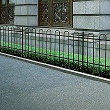 Anself Dekorativer Gartenzaun Zaun Stahl Bügelform 150 cm Schwarz