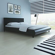 Anself Doppelbett Bett Ehebett aus Kunstleder aus