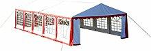 Anself Ersatzdach Dachplane Seitenteile Für Partyzelt Gartenzelt 10mx 5m Rot&Weiß