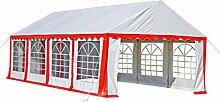 Anself Ersatzdach Dachplane Seitenteile Für Partyzelt Gartenzelt Rot&Weiß 8 x 4 m