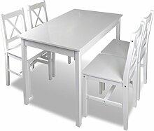Anself Esstischgruppe Tischgruppe aus Holz mit 4