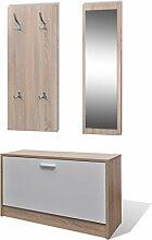 Anself Garderoben Set 3-in-1 Kompaktgarderobe aus