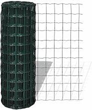 Anself Gartenzaun Maschendraht Gitterzaun gitter 10x1,8m