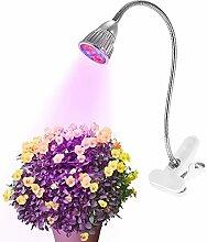 Anself Gooseneck LED Pflanzenlampe Wachstumslampe Pflanzenlicht Pflanzenleuchte mit 2 Arten von Wellenlängen US-Stecker 5W