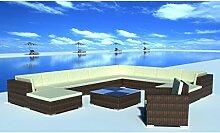 Anself Rattan Lounge Set Loungemöbel Loungeset Loungegruppe 35-teilig 2 Farbe Optional