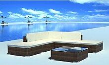 Anself Rattan Lounge Set Loungemöbel Loungeset Loungegruppe 15-teilig 2 Farbe Optional
