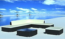 Anself Rattan Lounge Set Loungemöbel Loungeset Loungegruppe 20-teilig 2 Farbe Optional