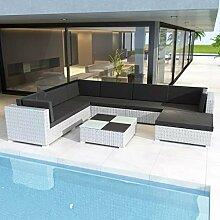 Anself Rattan Lounge Set Loungemöbel Loungeset
