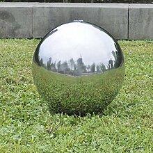 Anself Springbrunnen Kugelbrunnen Brunnenkugel aus Edelstahl mit LED Beleuchtung Durchmesser 40/30/20cm