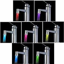 Anself Wasserhahn, Farbwechsel 7 Farben, LED-Wasserhahn-Aufsatz