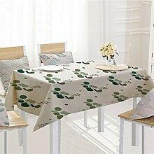Ansenesna Tischdecke Baumwolle Leinen Decke