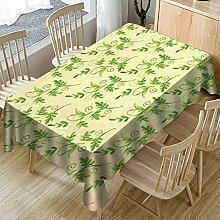 Ansenesna Tischdecke Grün Abwaschbar Decke