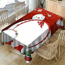 Ansenesna Tischtuch Abwaschbar Weihnachten