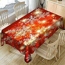 Ansenesna Tischtuch Weihnachten Rot Rechteckig