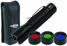 Ansmann Agent 1Taschenlampe + Holster + Filter, Teller, Aluminium, schwarz,