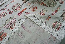 ANSOST Tischdecke Baumwollleinen Stoff Tischset