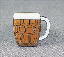 Anstecknadel, Metall, Email, Motiv Beer Bierglas