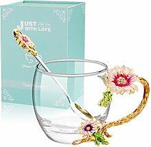 ANSUG Kristallklare Blume Tee Kaffeetasse,