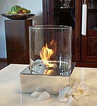 ANTARRIS Tischfeuer Glasfeuer Feuerstelle Yanick