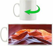 Antelope Canyon, Motivtasse aus weißem Keramik
