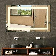Anten Badspiegel mit Beleuchtung LED Spiegelleuchte 100x60CM Naturlweiß 23W LED Wand Spiegel