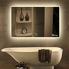 Anten Spiegel mit Beleuchtung 19W 80*60CM 4000K LED Spiegel Lichtspiegel Badezimmerspiegel nach Maß