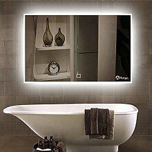 Anten Spiegel mit Beleuchtung 19W 80*60CM 6000K LED Spiegel Lichtspiegel Badezimmerspiegel nach Maß