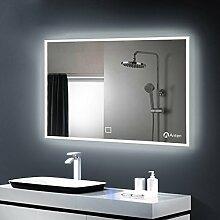 Anten Spiegel mit Beleuchtung 25W 100*60CM 6000K LED Spiegel Lichtspiegel Badezimmerspiegel nach Maß