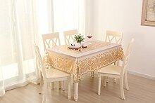 Antexn Gilding PVC Tischdecke mit Blumenmuster und