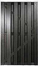 Anthrazite WPC Gartenzaun Tür im Maß 90 x 180 cm ( Breite x Höhe ) aus einem hochwertigen 60/40 Holz/Kunststoff-Komposit Material aus der Sichtschutzzaun-Serie Husum
