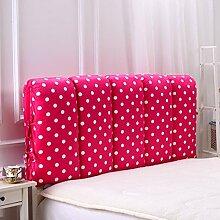 Anti-Kollision-Bett-Kopf-weiches Paket Doppelseitiges All-Inklusive Schwamm-Bett-Kopf-Abdeckung Herausnehmbares entfernbares Bett-Kissen ( Farbe : 6# , größe : 60*120cm )