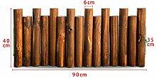 Anti-korrosions-Holz Zaun,Häufen Zaun Solide Holz