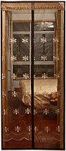 Anti - Moskito weichen Vorhang Tür magnetischen Schlafzimmer Wohnzimmer Küche Vorhang ( Farbe : Braun , größe : 90*210cm )