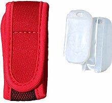 Anti-Mücken Armband MückenSchutz Insektenschutz Antimückenarmband Citronella Mückenspray MSC (Rot)