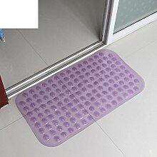 Anti-rutsch Badvorleger/PVC Kunststoff-matte/Badezimmer Matte/Foot Pad/Dusche Matte/Badematte-C 37x68cm(15x27inch)