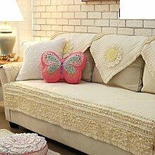 Anti-rutsch gepolsterte sofakissen,koreanisch-amerikanische kombination sofa kleines frisches sofa kissen handtuch-A 70x150cm(28x59inch)