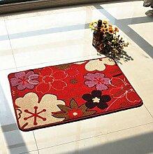 Anti-Rutsch-Schnitt Blumen-Eingangshalle Eingangstür Wohnzimmer Eingangstür Matratze Matratze Teppich Mat Mat ( farbe : B7 )