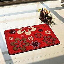 Anti-Rutsch-Schnitt Blumen-Eingangshalle Eingangstür Wohnzimmer Eingangstür Matratze Matratze Teppich Mat Mat ( farbe : B1 )