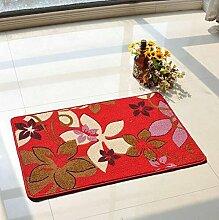 Anti-Rutsch-Schnitt Blumen-Eingangshalle Eingangstür Wohnzimmer Eingangstür Matratze Matratze Teppich Mat Mat ( farbe : B5 )