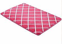 Anti-Rutsch-Wasseraufnahme Kreativ waschbar Teppich Schlafzimmer Teppich Küche Teppich Badezimmer Teppich ( Farbe : F , größe : 40*60cm )
